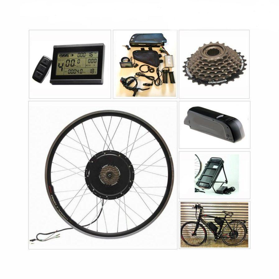 elementy zestawu roweru elektrycznego