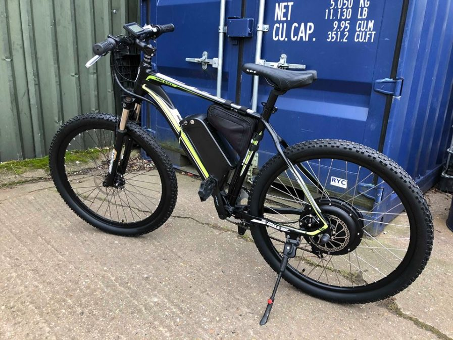 rower elektryczny wersja żółta