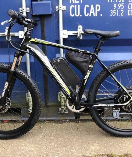 e-bike w wersji kolorystycznej czarno-żółtej